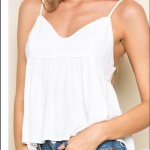 Brandy Melville Cameron Tank Top Cutout Tie Back
